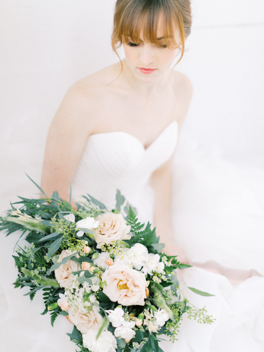 film photography wedding bride bright and airy spokane wedding
